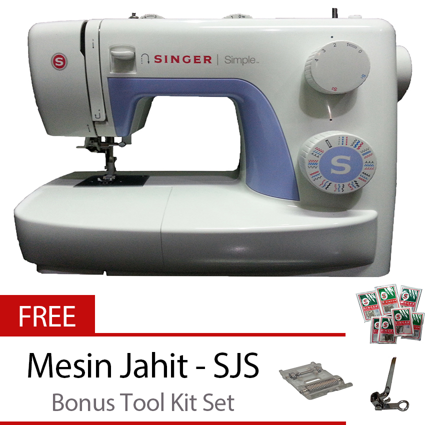 Jual Singer 3232 Simple Mesin Jahit Portable Putih Gratis Tool Kit Baru