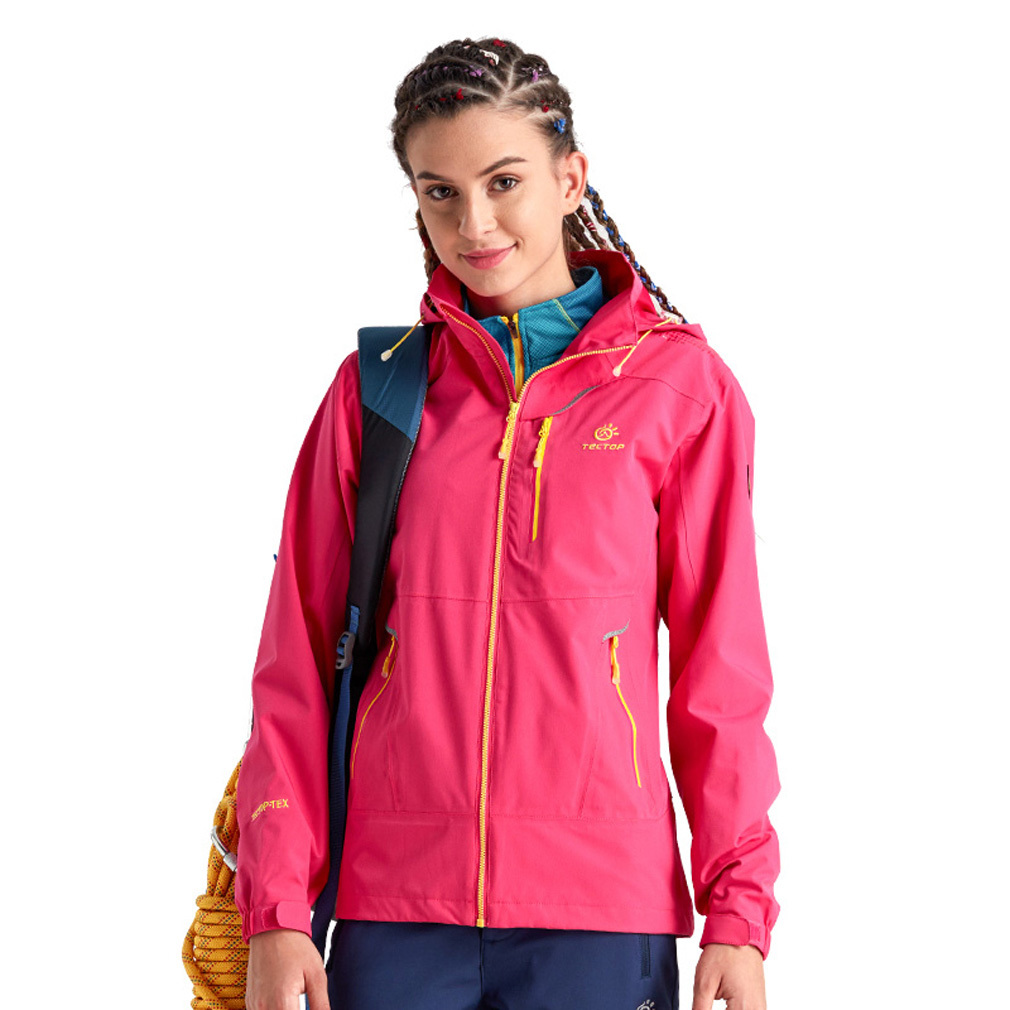 Single Layer Women Outdoor Waterproof Mountain Hiking Angin Jaket Softshell Spring Autumn Windproof Coat Roseo