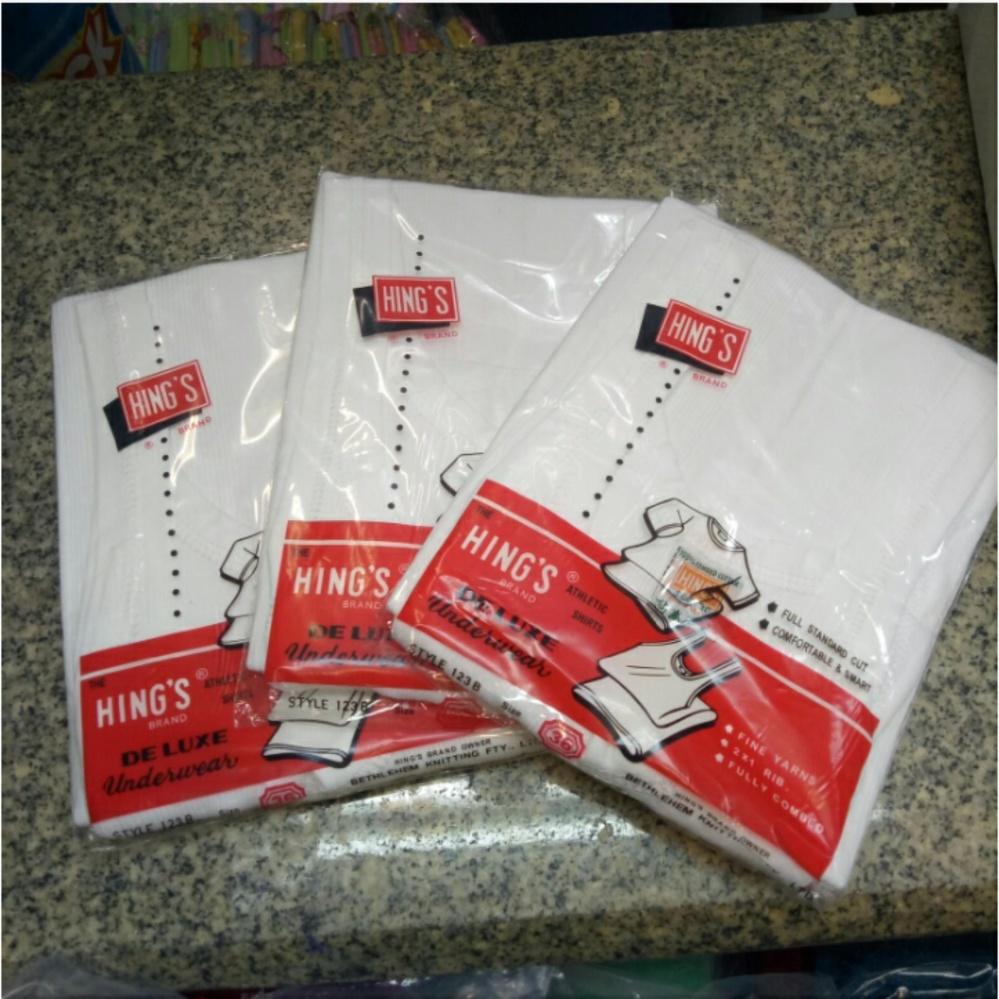 Spesifikasi Singlet Pria Kaos Dalam Pria Hing S123 B Per 3Pcs Size 32 34 36 Yang Bagus Dan Murah