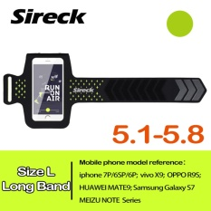 Sireck 5.8 Inches Panjang-band Waterproof Armband Outdoor Menjalankan Arm Tas ARM Pouch Arms Paket Jogging Gym Multifungsi Mobile Phone Armband Case Cover Holder 4 Warna-Intl