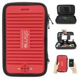 Cuci Gudang Sisma Travel Electronics Dan Aksesoris Organizer Hard Carrying Case Bag Untuk Usb Kabel Earphone Adaptor Kartu Memori Telepon Baterai Eksternal Hdd Gadget Dan Lainnya Bagian Kecil Merah Intl