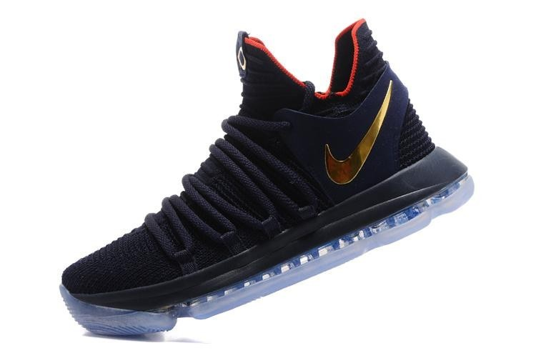 Size 40 Olympic Black Gold NBA Kevin Durant Sneakers For Male Zoom KD 10 EP Basketball Shoes Comfortable Real Official - intl