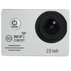 SJ7000 Action Camera 2 Inci LCD Wifi 1080 P HD Penuh 30 M Tahan Air HDMI Go Xiao Pro Yi Gaya 4 K Aksi Olahraga Kamera Dash Aksesoris Camcorder YICOE (perak)