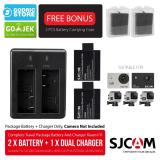 Harga Sjcam Complete Set Baterai Battery Charger For Sj4000 Sj5000 M10 Brica B Pro5 Alpha Edition Ae1 Ae2 Ae2S Baru