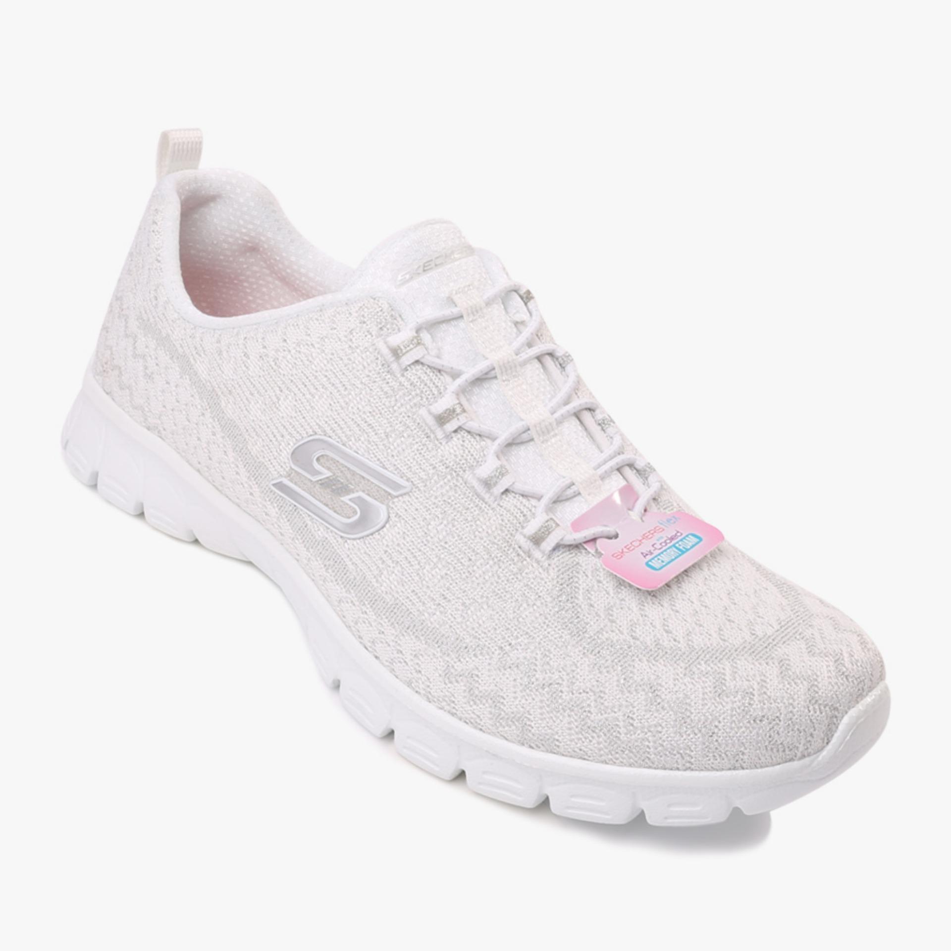 Toko Skechers Ez Flex 3 Estrella Women S Sneakers Putih Online Terpercaya