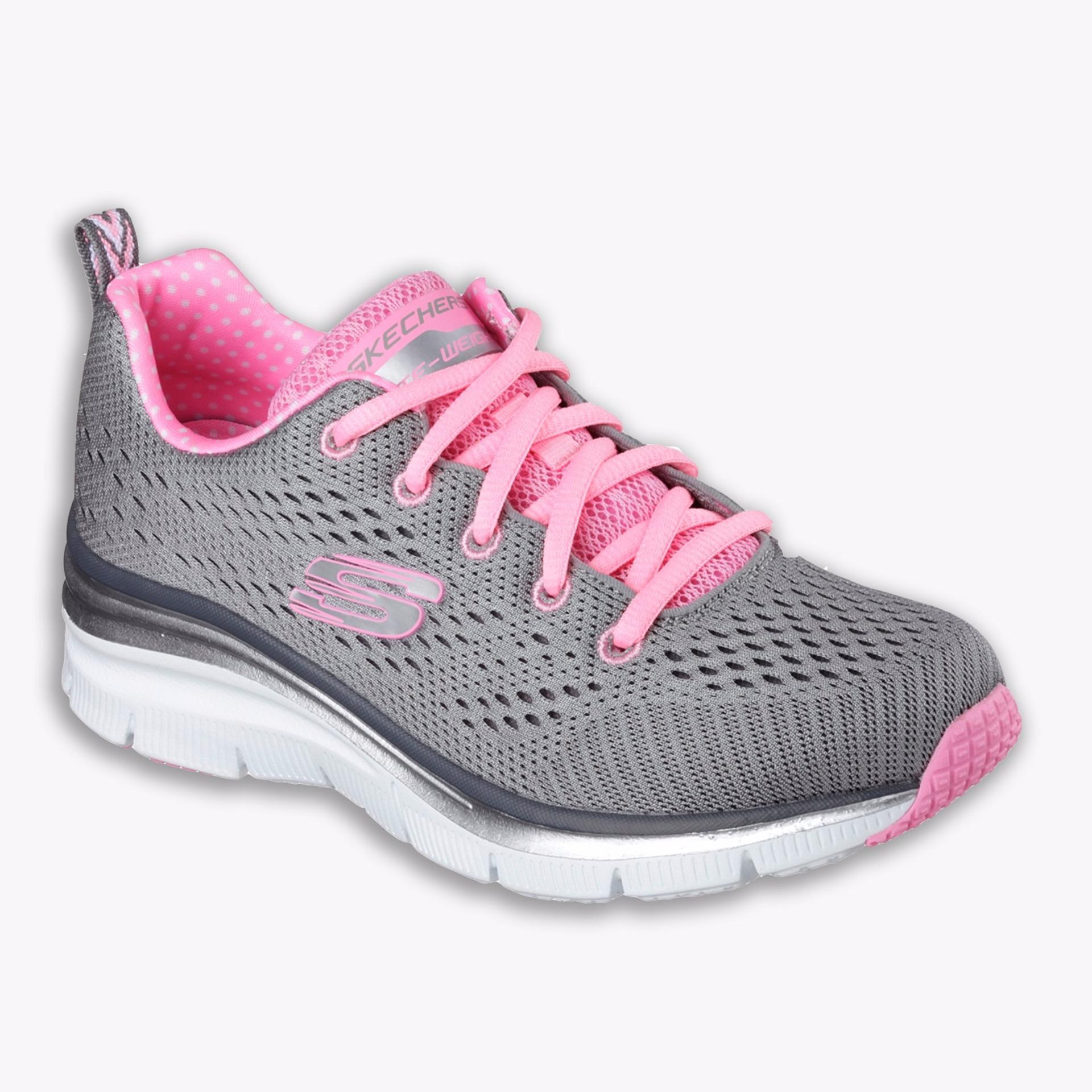 Beli Skechers Fashion Fit Statement Piece Women S Running Shoes Abu Abu Cicil