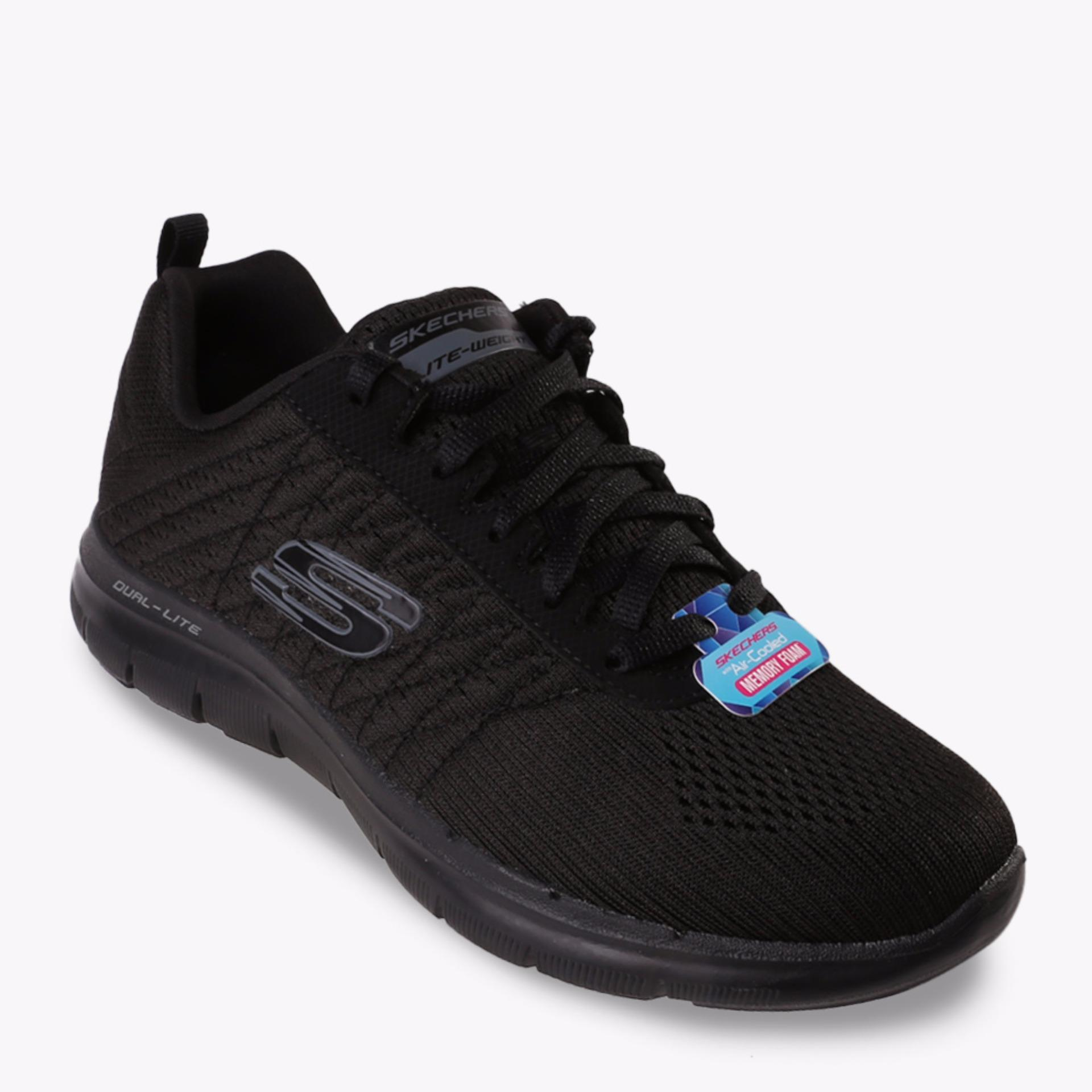 Beli Skechers Flex Appeal 2 Break Free Women S Running Shoes Hitam Online Murah