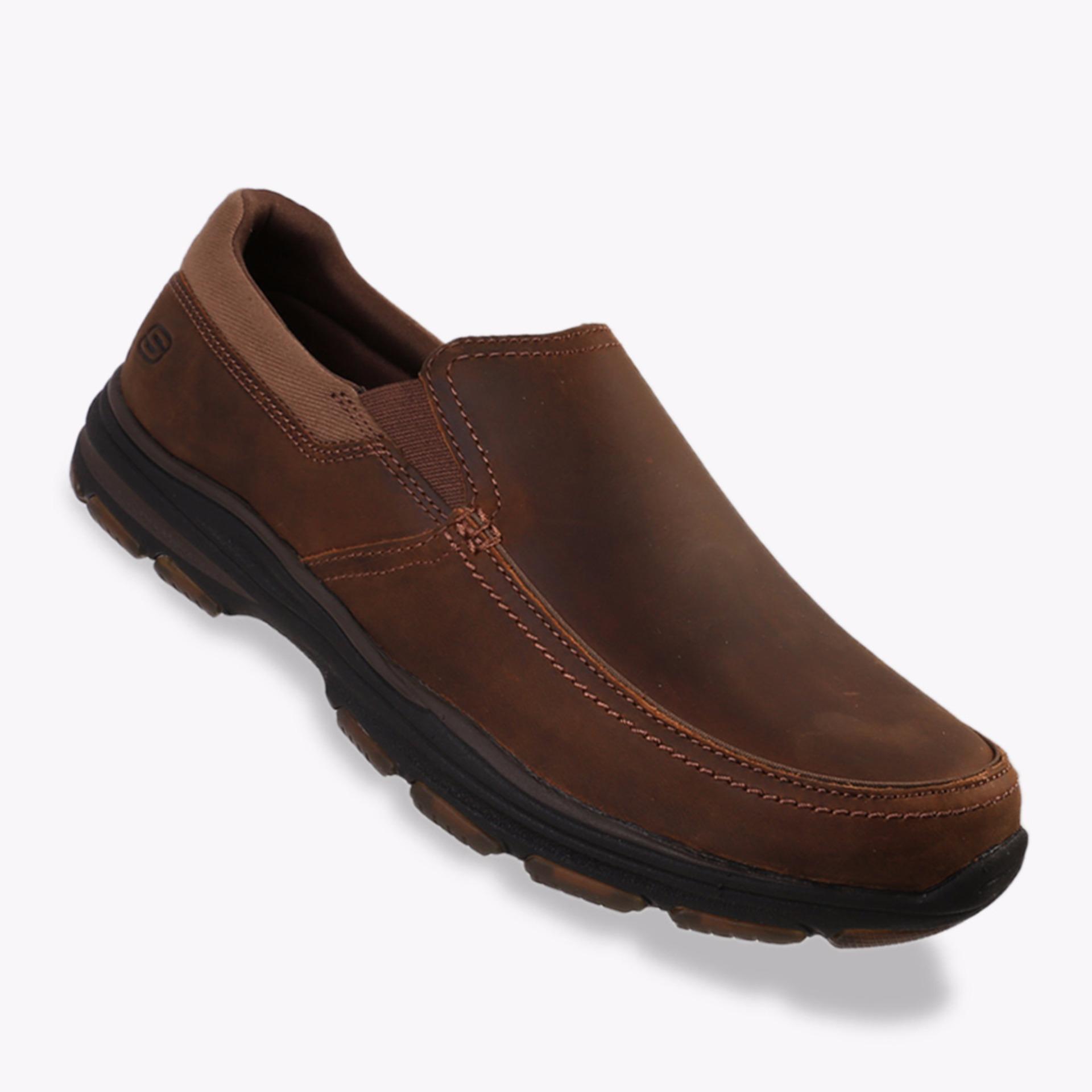 Skechers Garton Venco Men S Casual Shoes Cokelat Indonesia