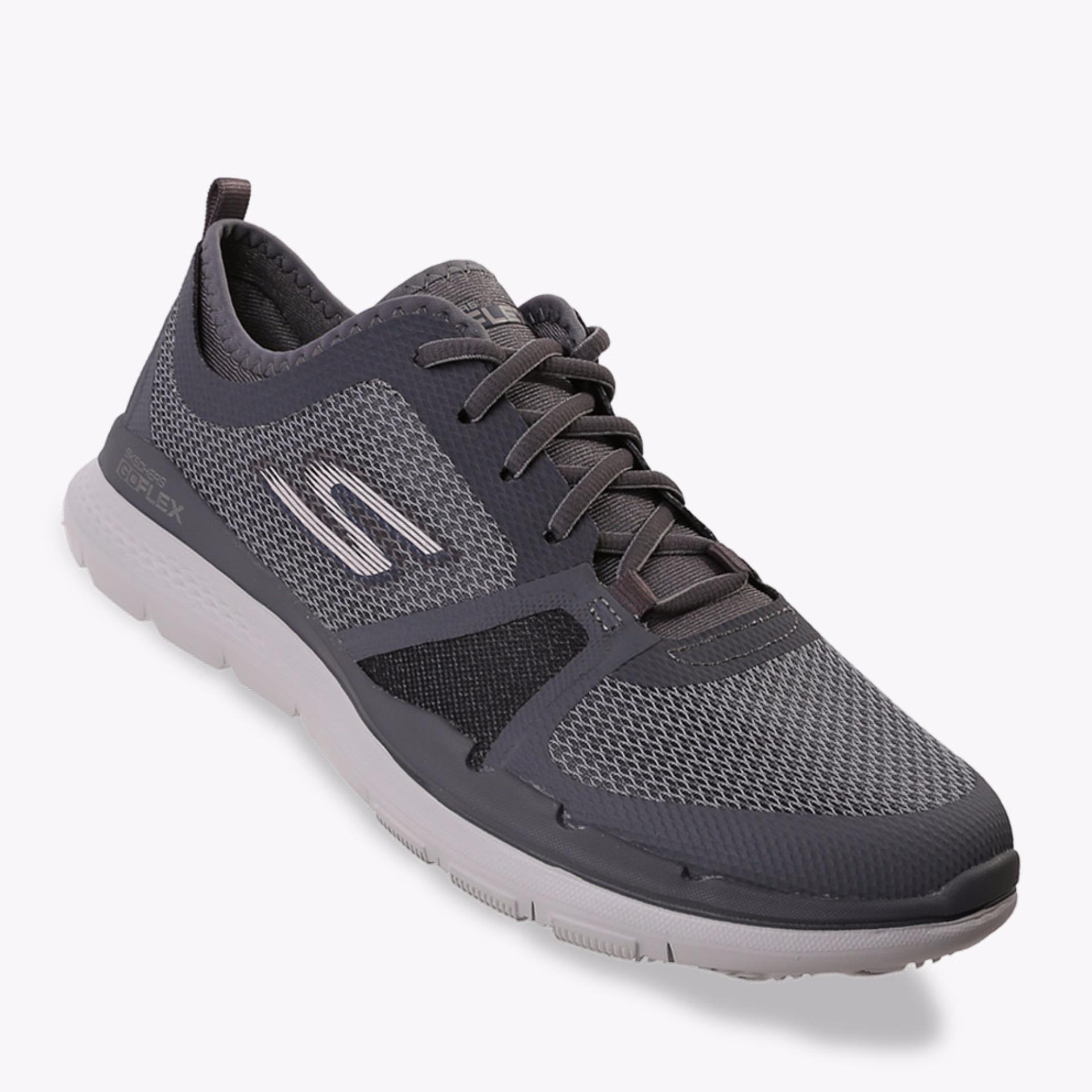 Jual Skechers Go Flex Train Conquer Men S Sneakers Shoes Abu Abu Baru