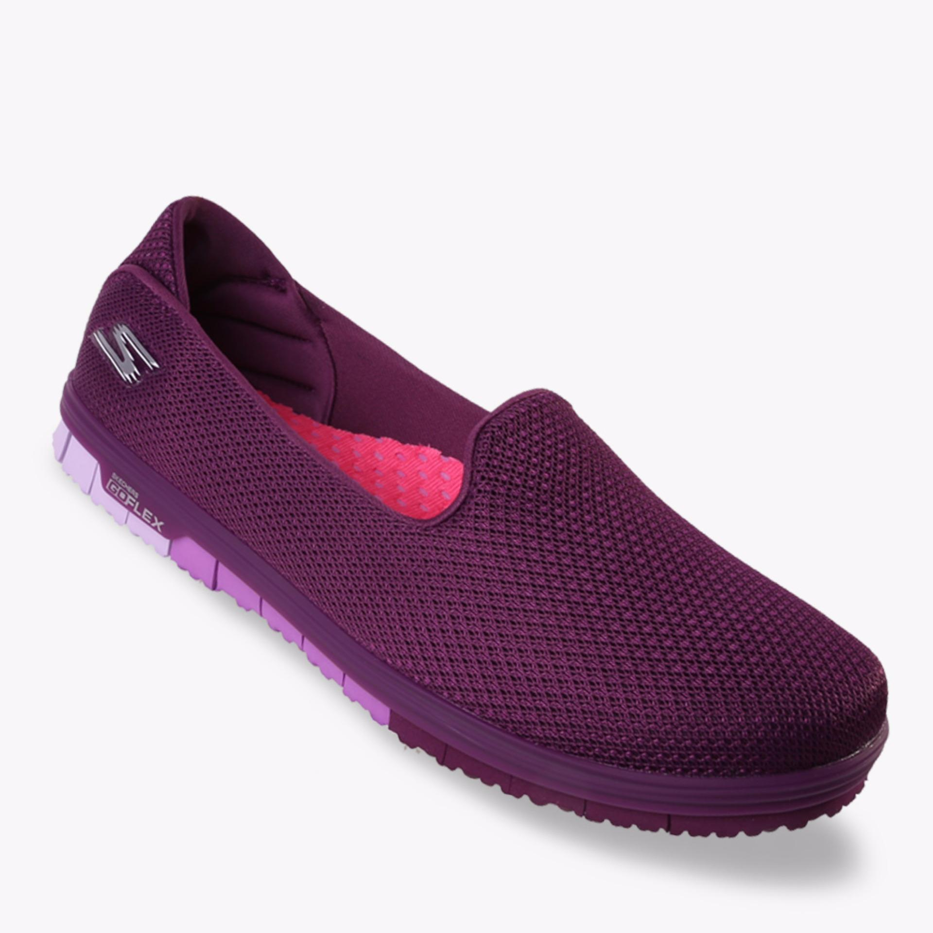 Harga Skechers Go Mini Flex Walk Women S Slip On Ungu Terbaik