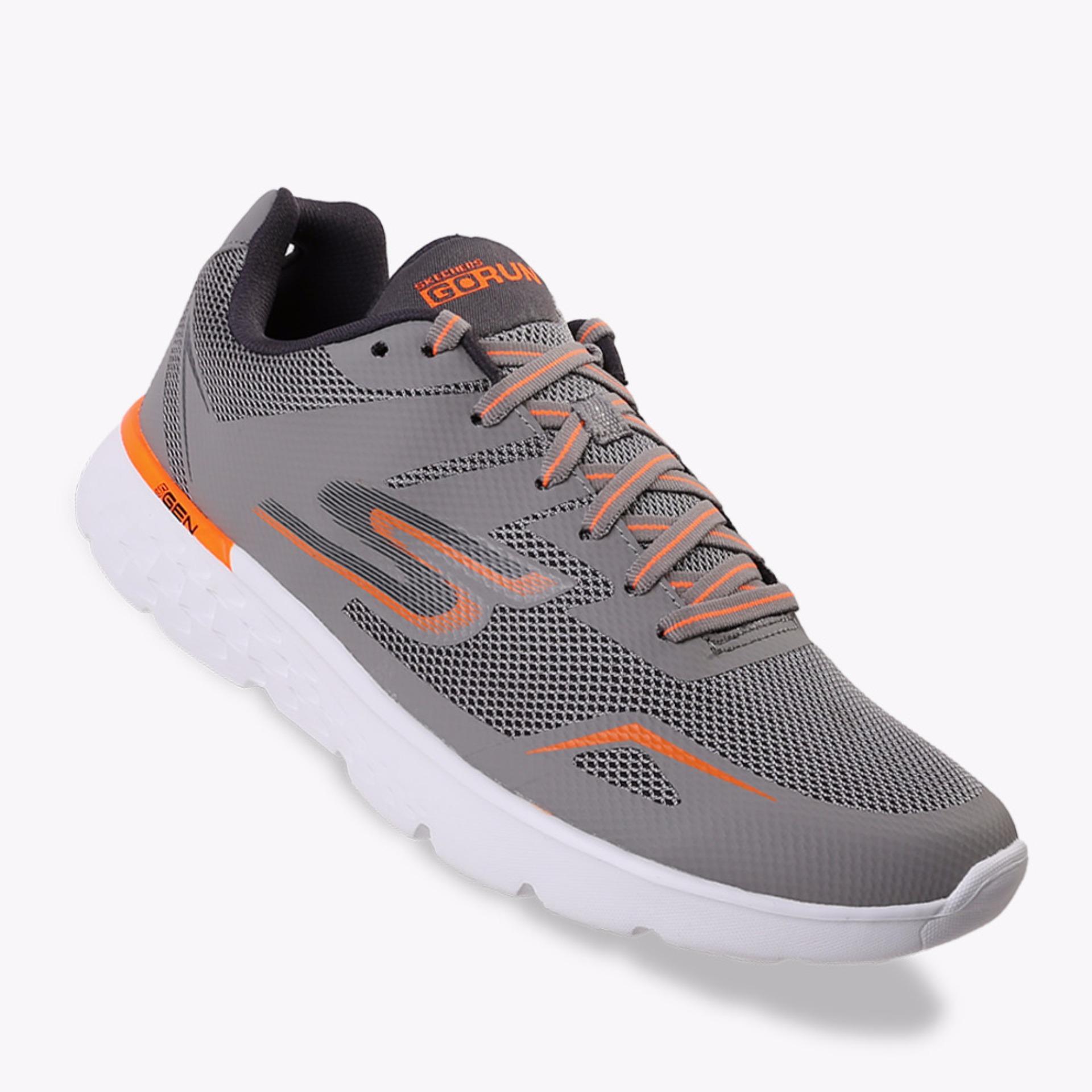 Diskon Skechers Go Run 400 Men S Running Shoes Abu Abu
