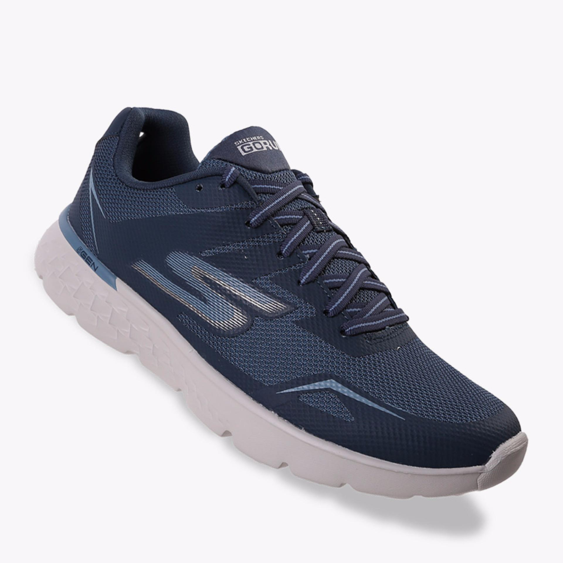 Jual Skechers Go Run 400 Men S Running Shoes Navy Indonesia Murah