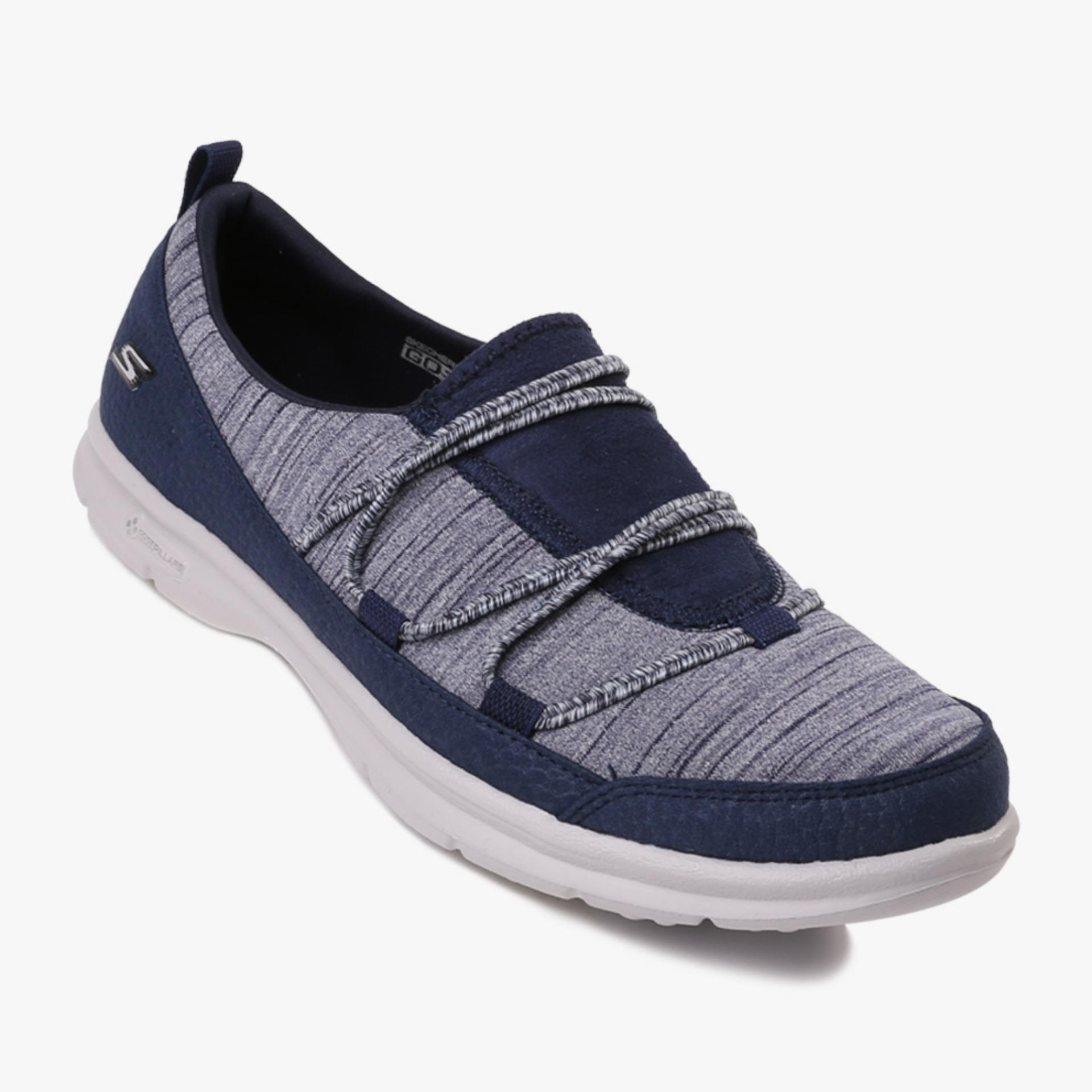 Harga Skechers Go Step Sway Women S Sneakers Navy Murah