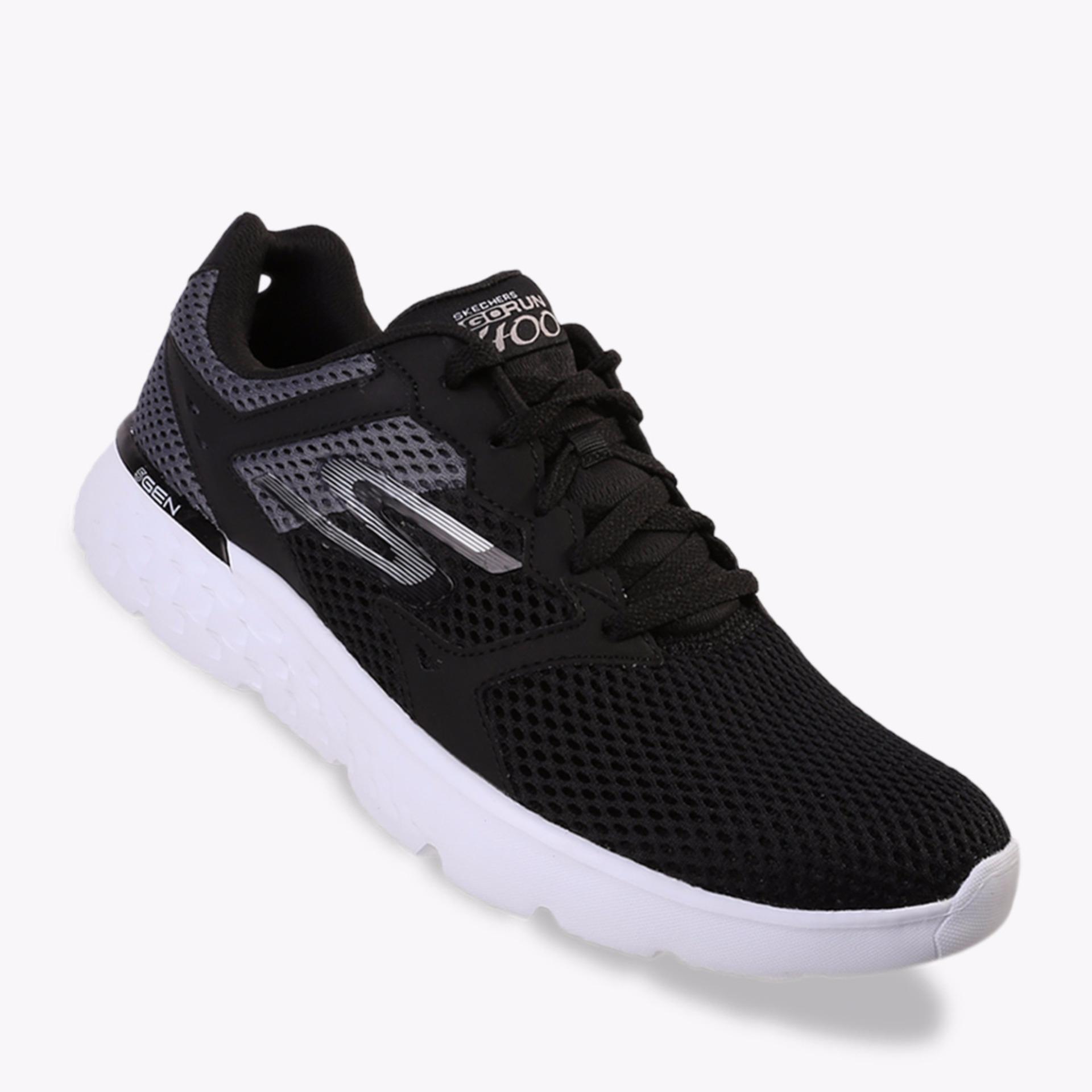 Spesifikasi Skechers Gorun 400 Men S Running Shoes Hitam Yang Bagus