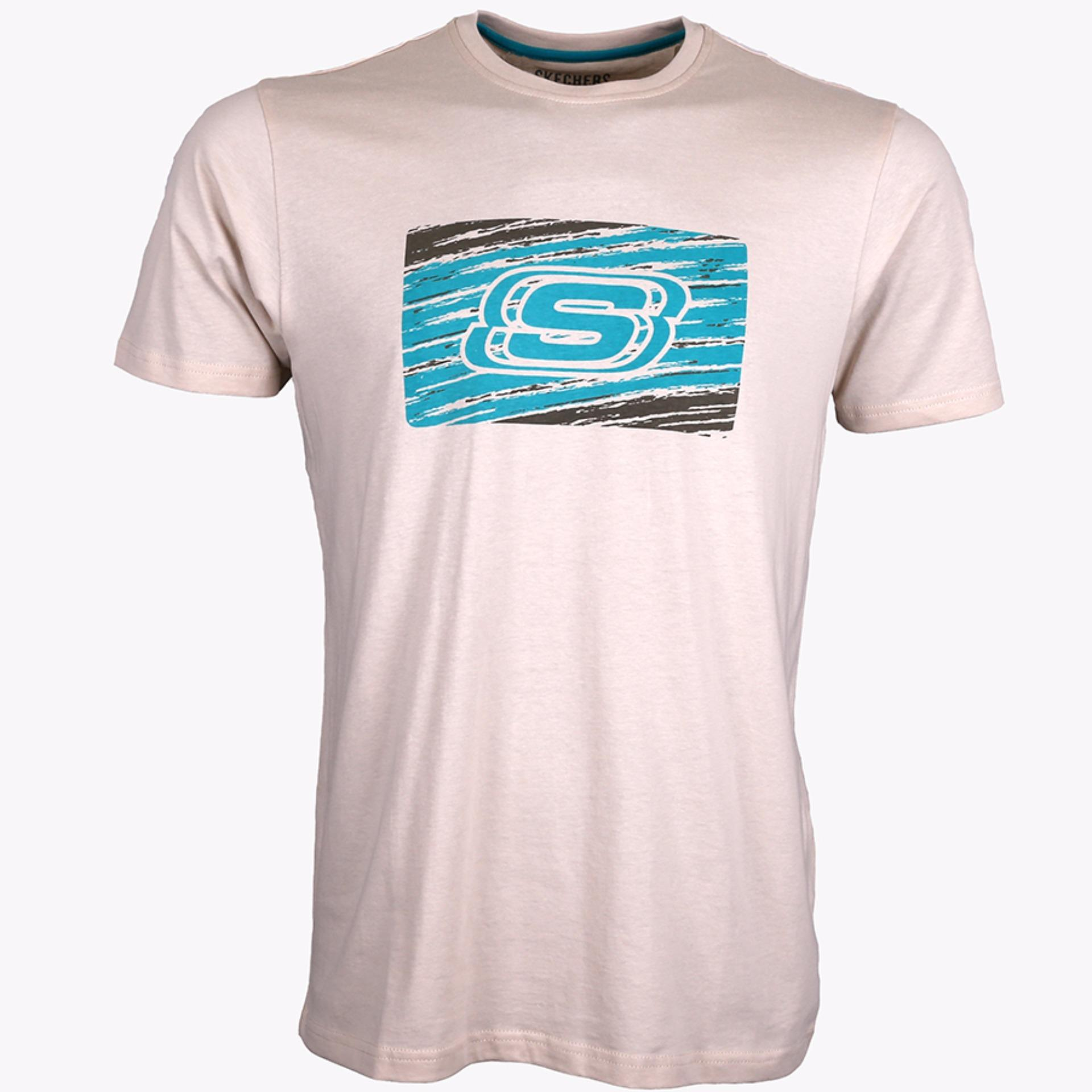 Harga Skechers Men S Graphic Tee Beige
