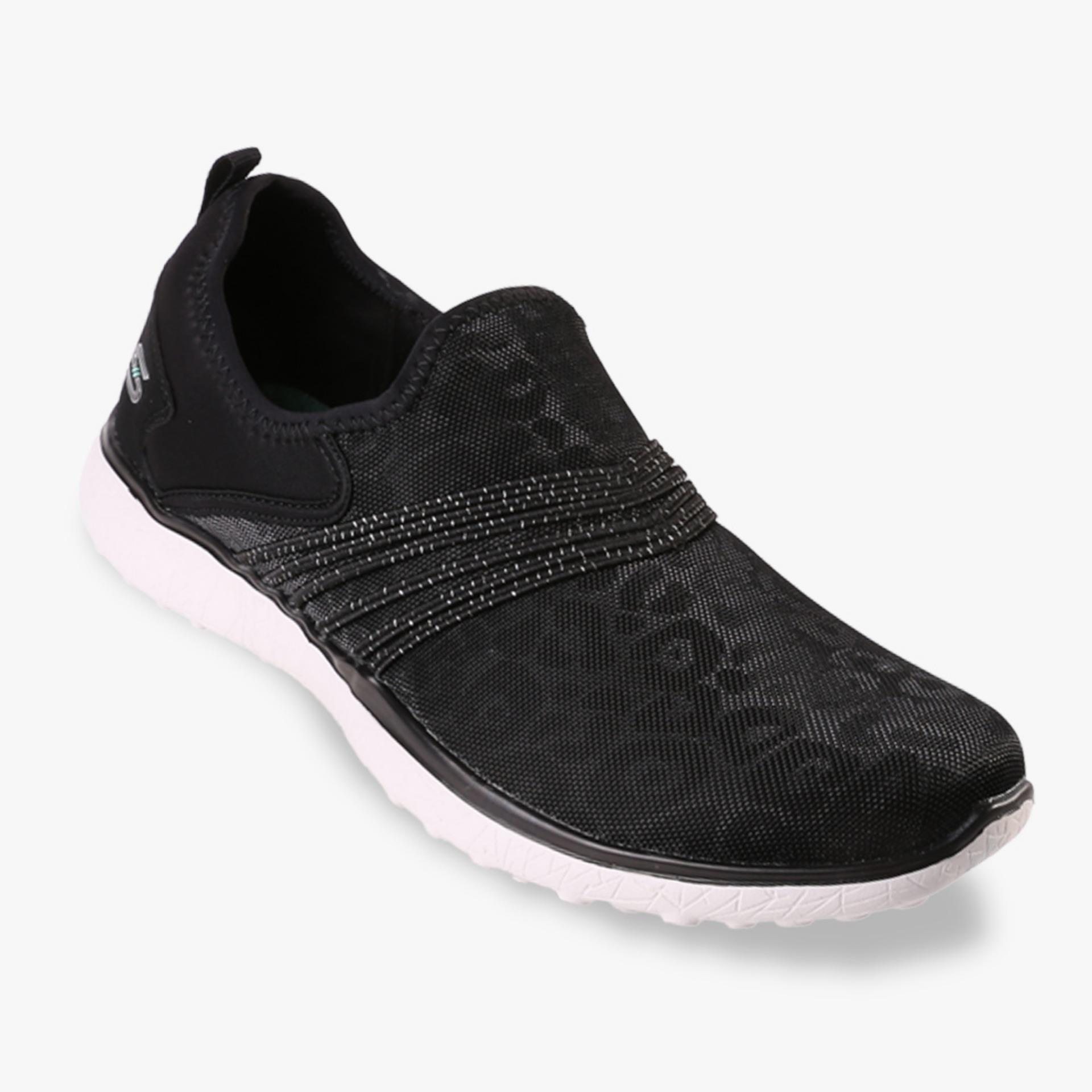 Skechers Microburst Under Wraps Women S Sneakers Hitam Murah