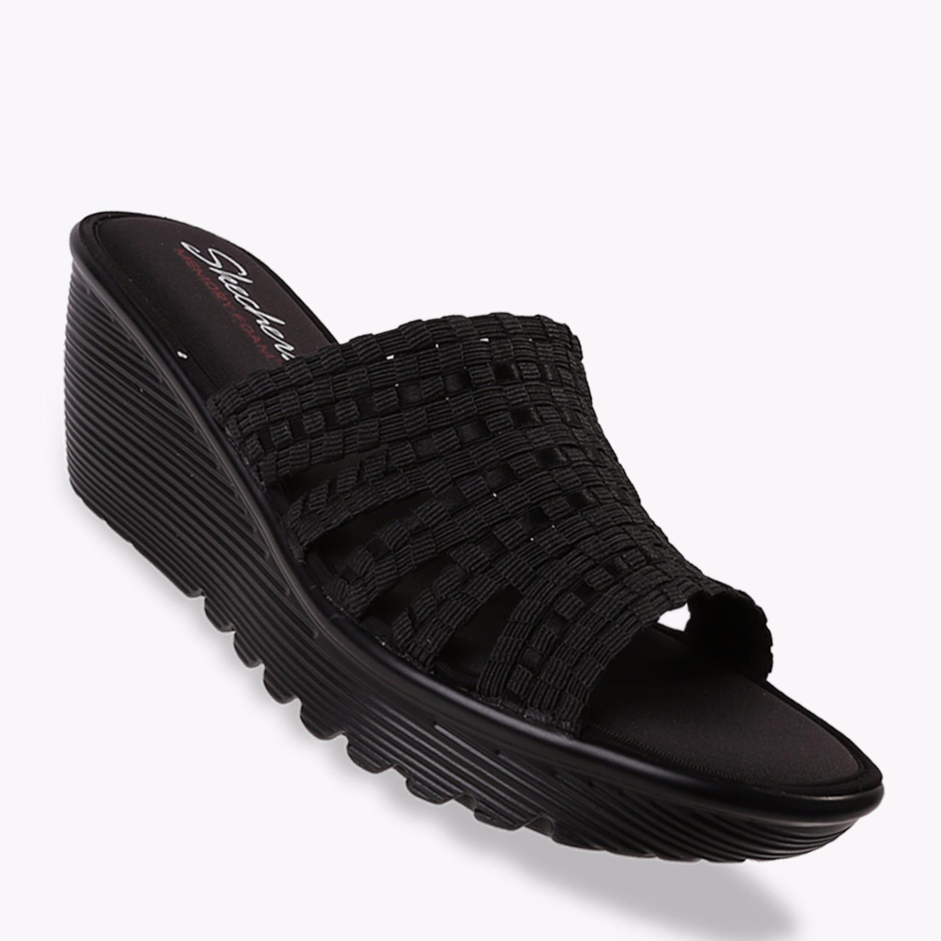 Skechers Parallel - Mornin Stretch Women's Sandals - Hitam