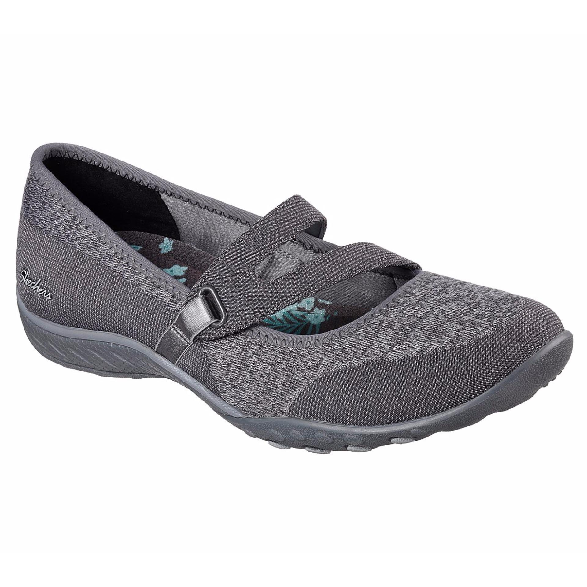 Jual Skechers Relaxed Fit Lucky Lady Abu Abu Grosir
