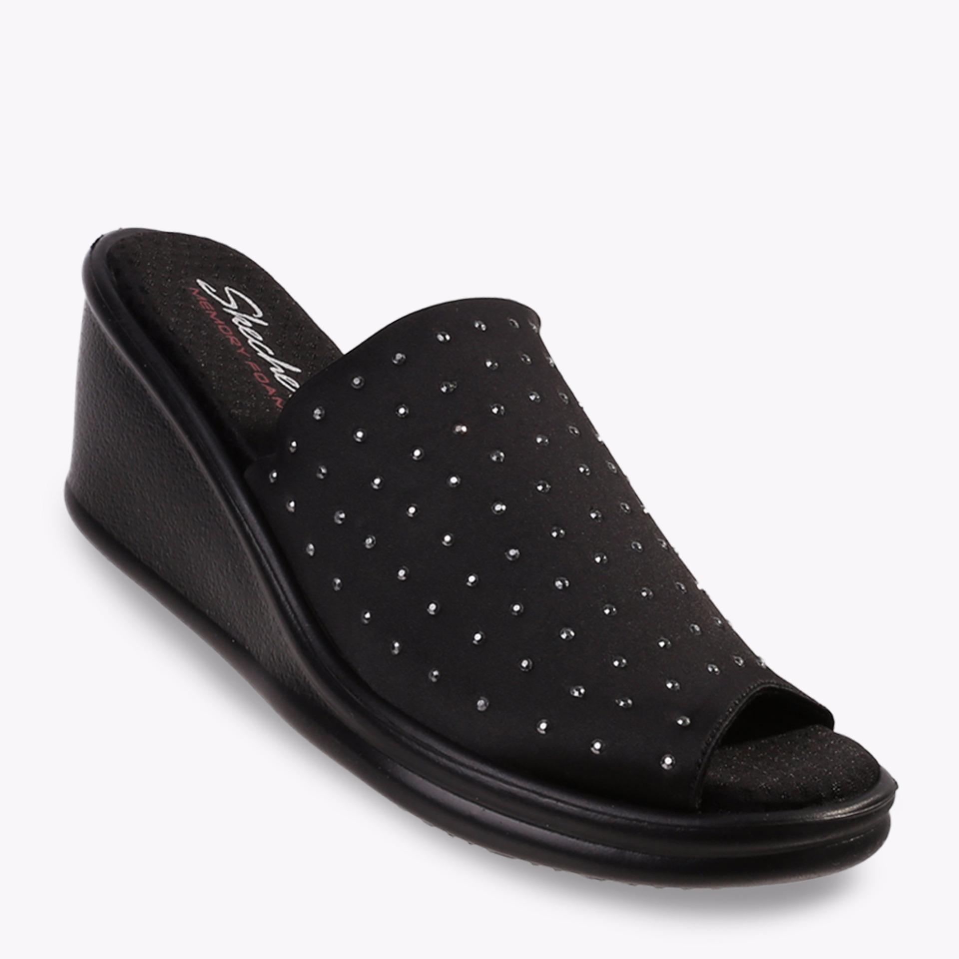 Jual Skechers Rumblers Women S Sandals Hitam Branded Original