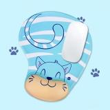 Toko Skid Resistance Memory Foam Comfort Wrist Rest Dukungan Mouse Pad Blue Cat Intl Oem Di Tiongkok