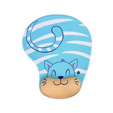 Spesifikasi Skid Resistance Memory Foam Comfort Wrist Rest Support Mouse Pad Blue Cat Dan Harga