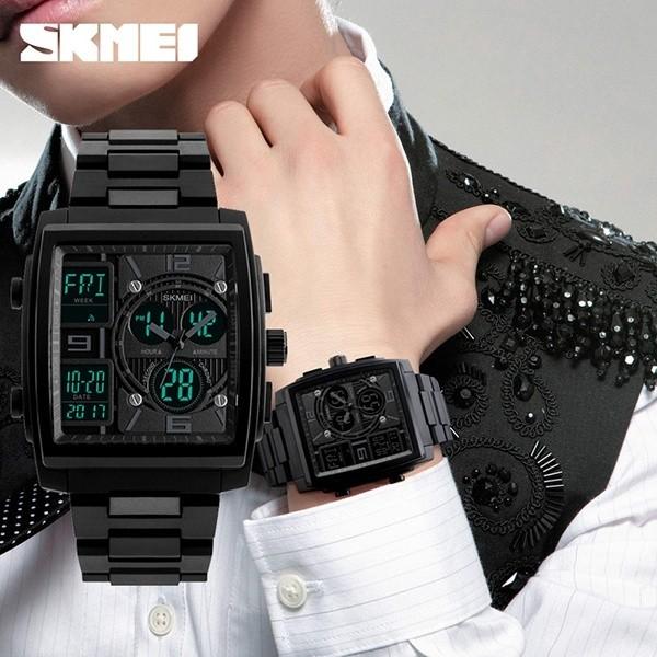 SKMEI  Merek Pria Fashion Pergelangan Tangan Kuarsa Countdown Chronograph Multifungsi Olahraga Kasual Bisnis Watch Relogio Masculino 1274-Intl