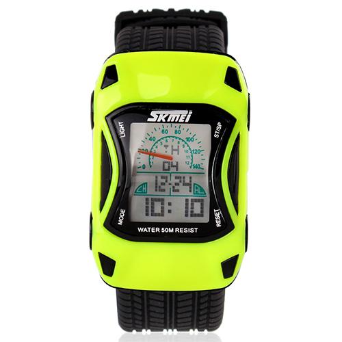 Toko Skmei 0961B Jam Tangan Anak Kuning Rubber Strap Speed Car Watch Terlengkap Jawa Timur