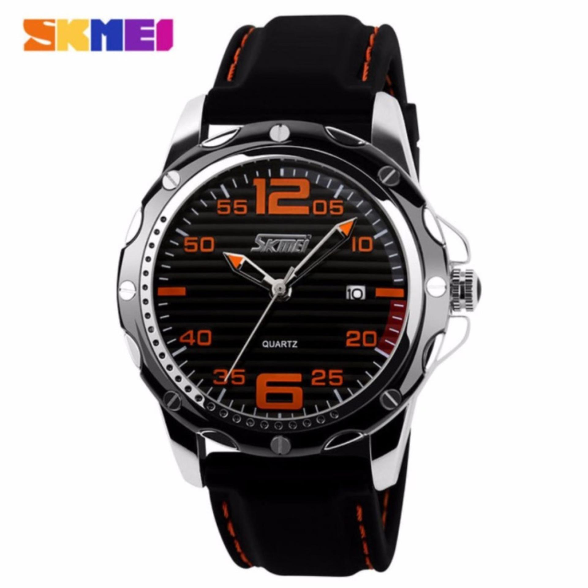 Harga Skmei 0992 Sport Quartz Men Casual Watch Calendar Date Work For Luxury Brand Men Dress Wristwatch 30M Waterproof Hitam Orange Skmei Terbaik