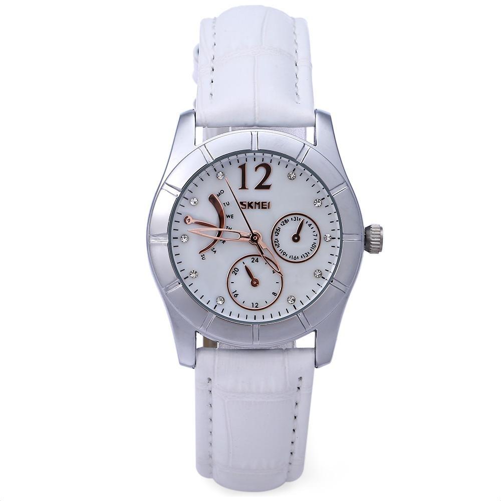 Beli Skmei 6911 Wanita Quartz Watch 30 M Tahan Air Pita Kulit Jam Tangan Allwin Internasional
