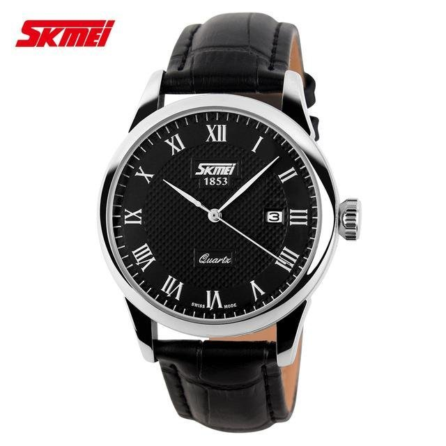 Skmei 9058 Brand Luxury Women Quartz Watch Fashion Casual Watches 30M Waterproof Leather Strap Wristwatches Black Black Belt Intl Skmei Diskon 40