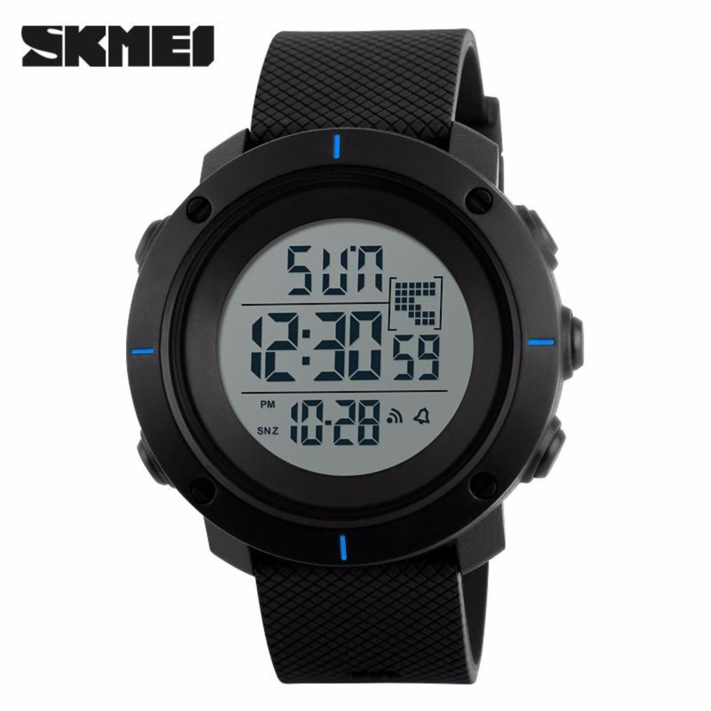 Harga Skmei Casual Men Silicone Strap Watch Water Resistant 50M Dg1213 Jam Tangan Pria Casual Strap Silicon Berkualitas Hitam Biru Satu Set