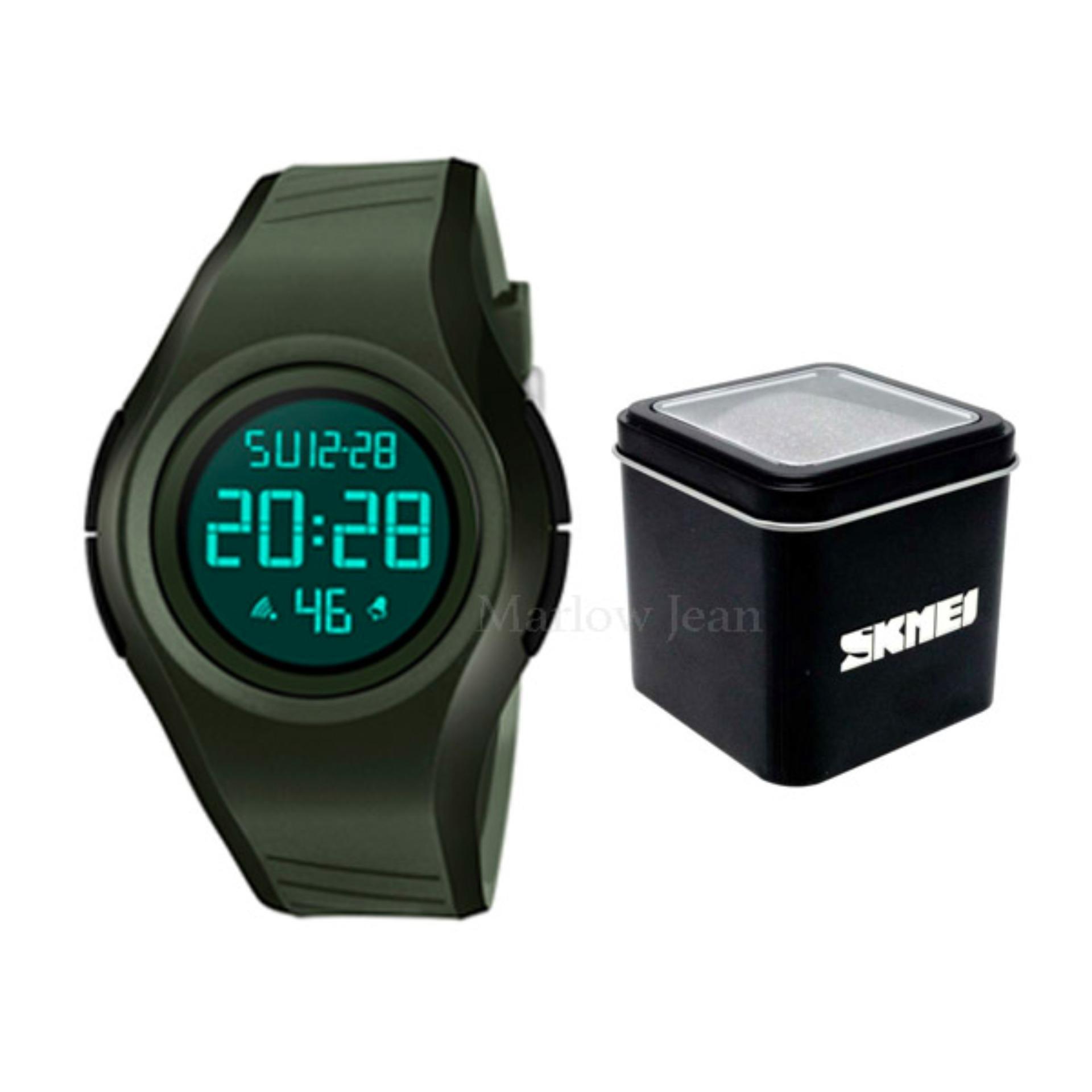 Kualitas Skmei Jam Tangan Digital Pria 1269 Garansi Skmei Incluce Box Skmei Army Green Skmei