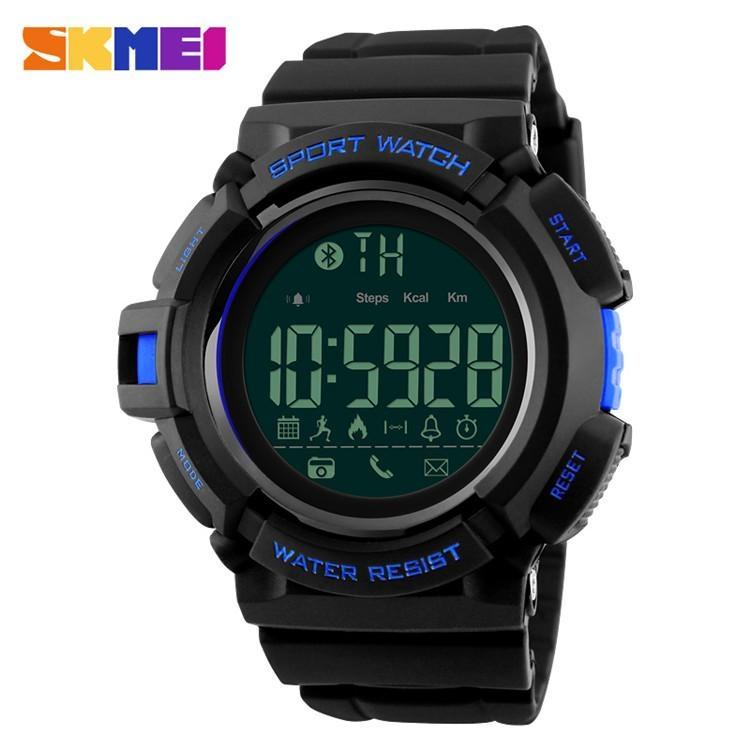 Toko Skmei Jam Tangan Olahraga Smartwatch Bluetooth Dg1245 Bl Black Blue Terlengkap Dki Jakarta