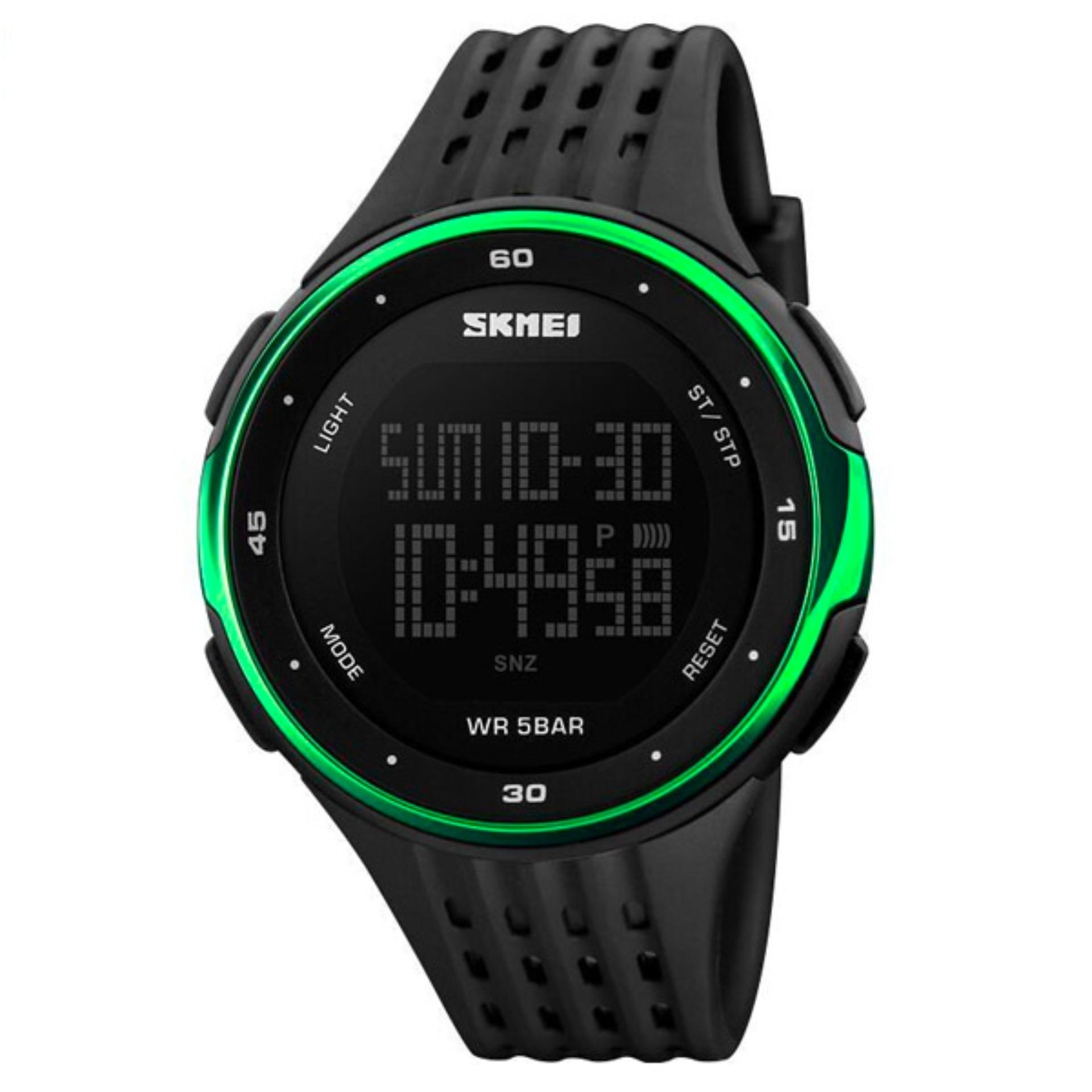 Review Skmei Man Sport Led Watch Water Resistant 50M Dg1219 Hitam Hijau Skmei