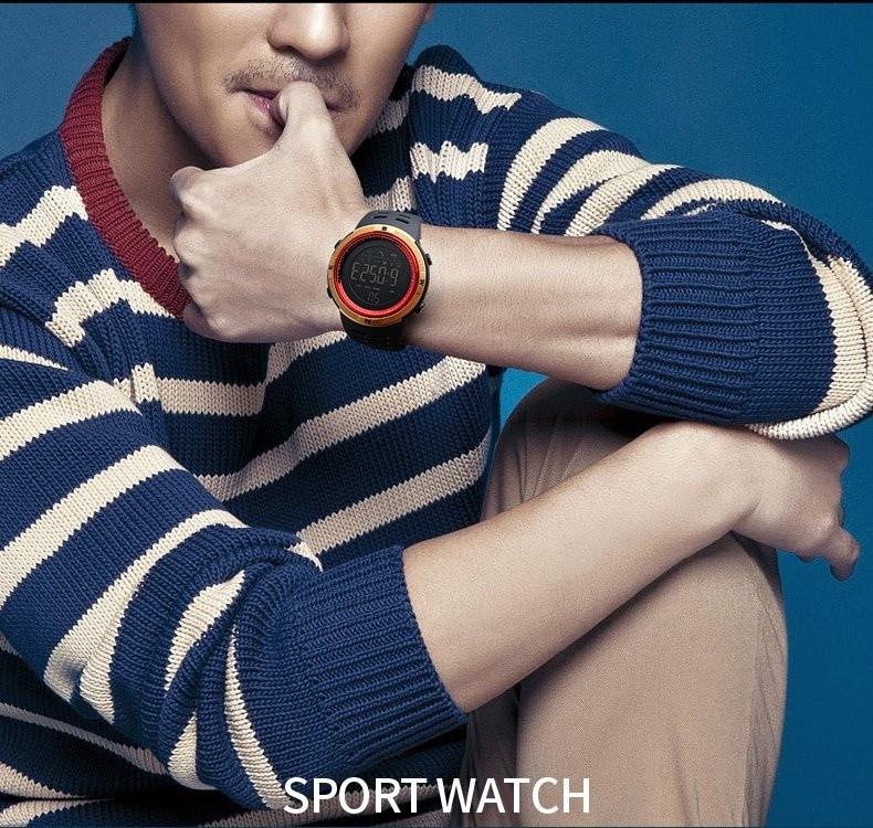 Beli Skmei Merek Watch 1250 Fashion Arloji Pedometer Kalori Digital Watch Untuk Apple Ios Sistem Android Pria Wanita Tahan Air Olahraga Watches Baru