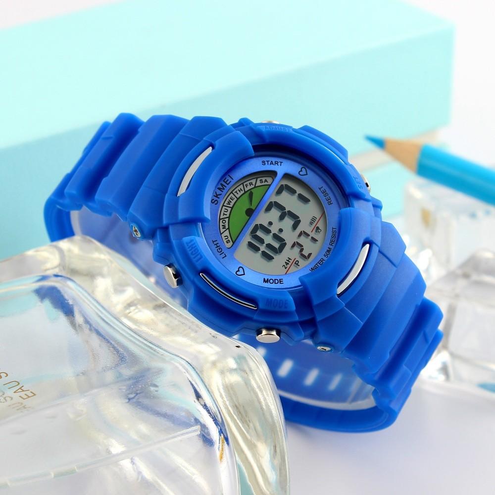 SKMEI Olahraga Anak Jam Tangan Anak-anak Alarm Mode Watch Chronograph Anak Air Digital Jam