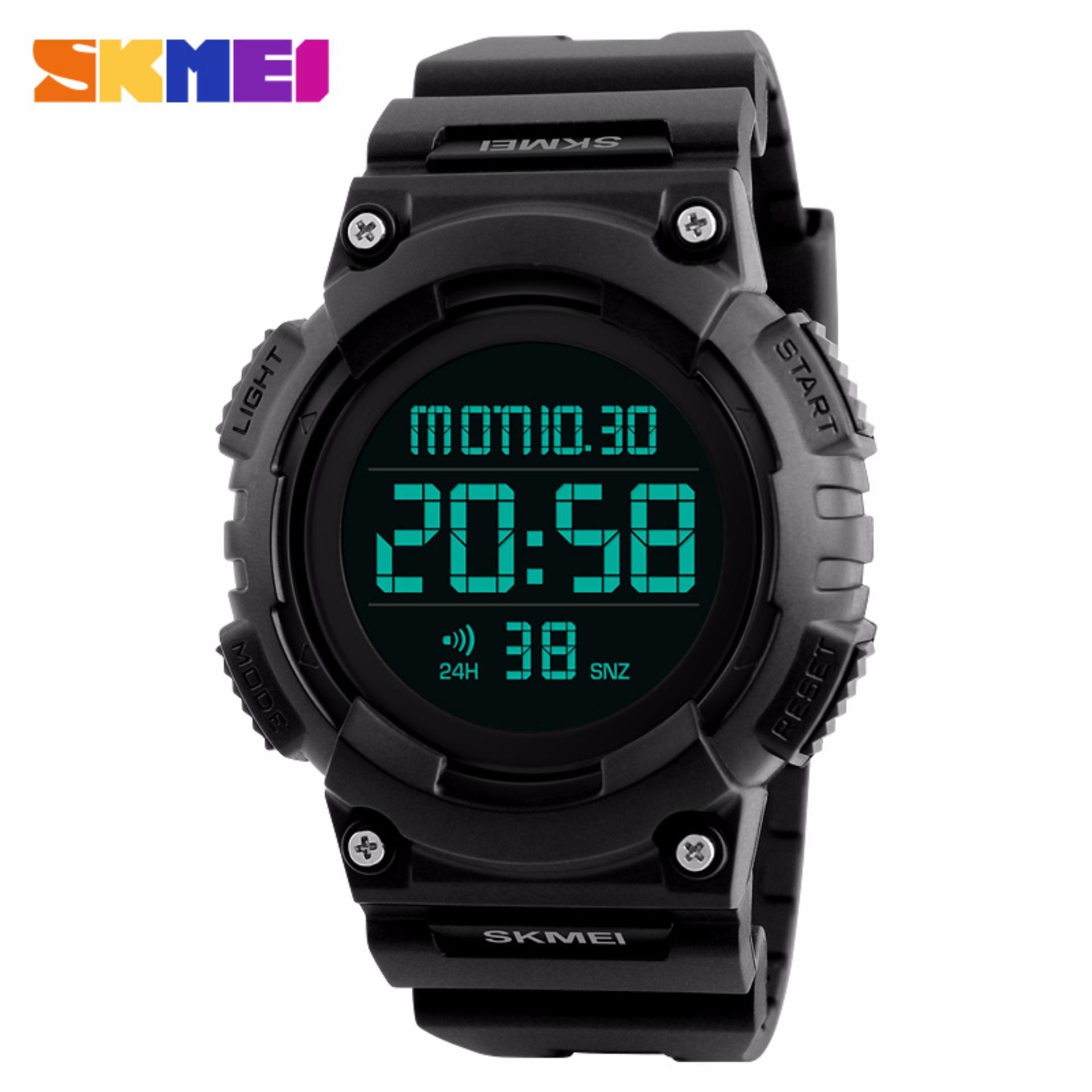 Miliki Segera Skmei Original Jam Tangan Pria Jam Tangan Digital Dg1248 Day Date Stopwatch Hitam