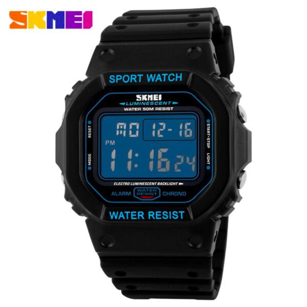 Dapatkan Segera Skmei S Shock Sport Watch Water Resistant 50M Dg1134 Jam Tangan Casual Jam Tangan Sport Hitam Biru