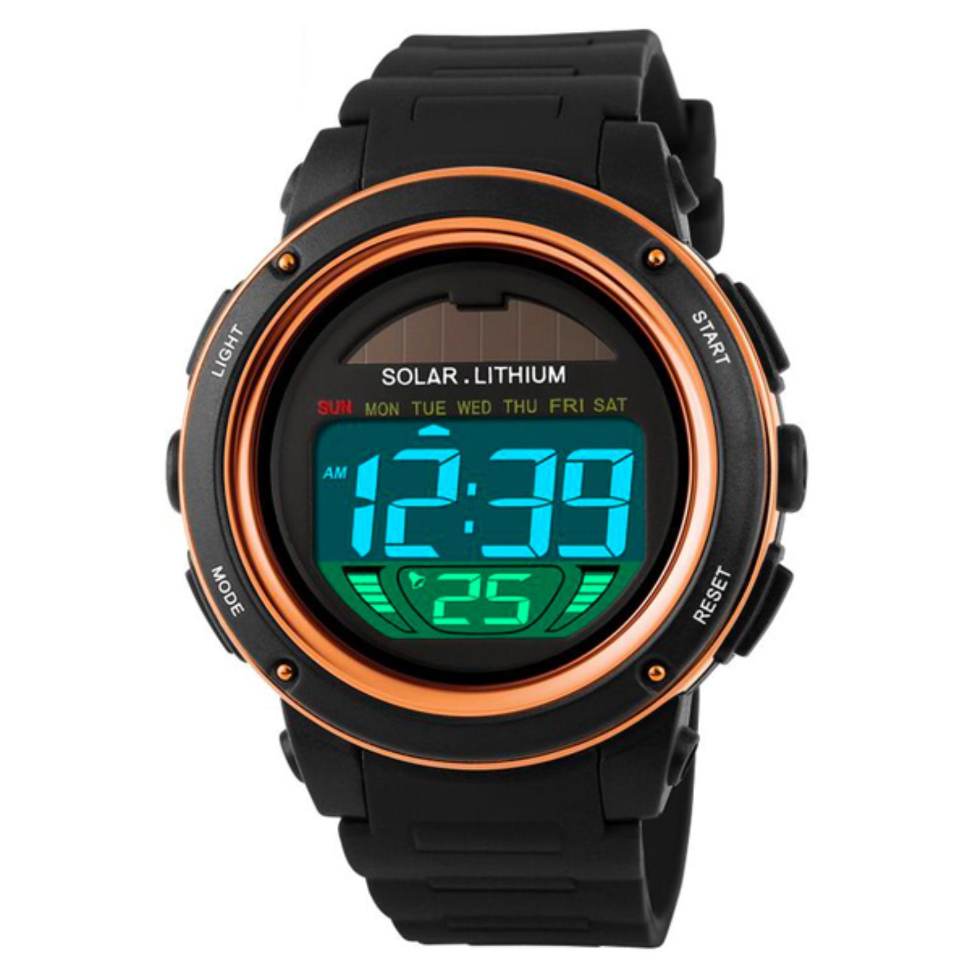 Harga Skmei Solar Power Sport Led Watch Water Resistant 50M Dg1096 Jam Tangan Fashion Kasual Pria Termurah