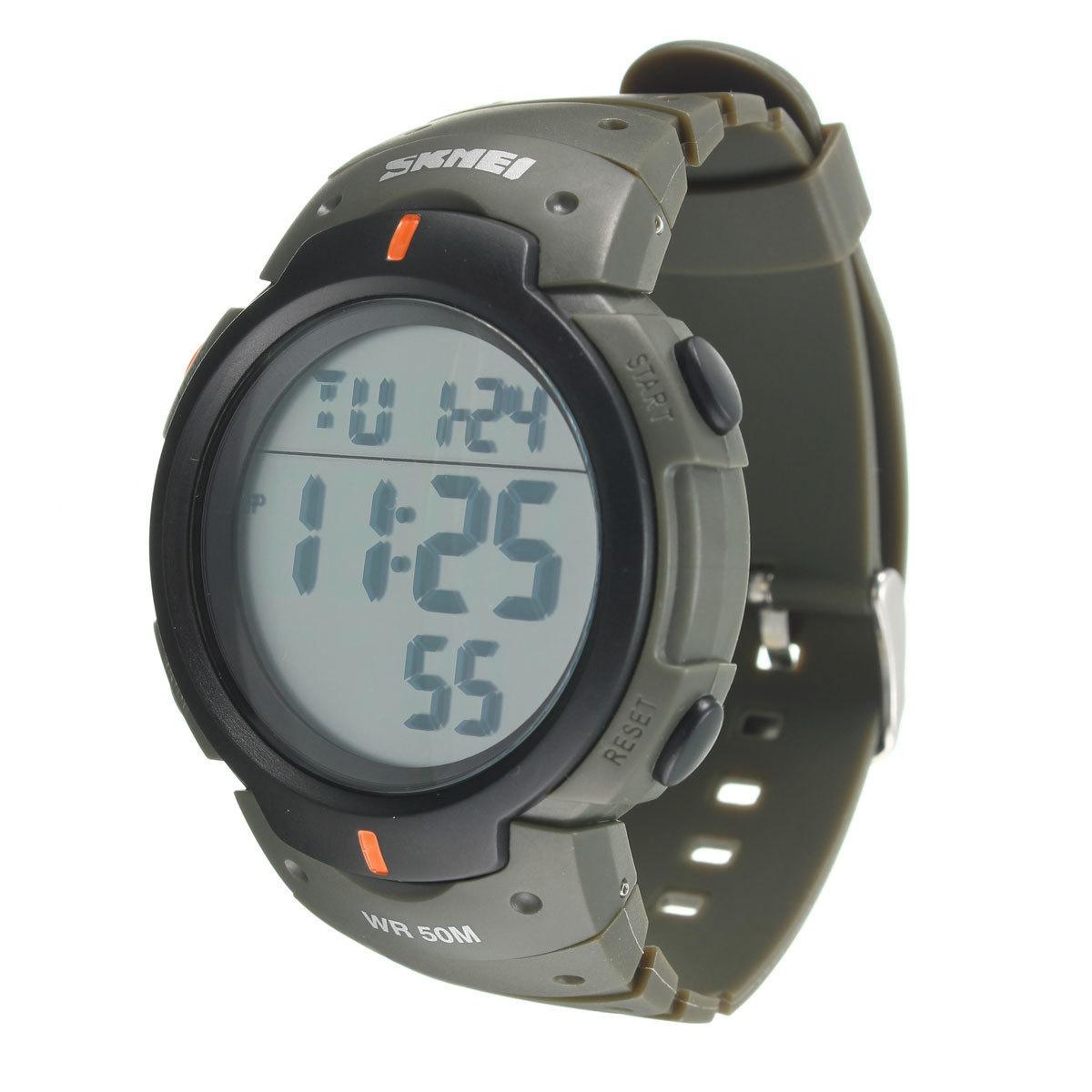 Diskon Skmei Tahan Air Led Light Digital Tanggal Alarm Lcd Wrist Watch Pria Wanita Olahraga