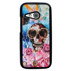 Skull Tattoo Patterned Pattern Phone Case for HTC One M8 Mini (Black)