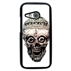 Skull Tattoo Berpola Pola Phone Case untuk HTC One M8 Mini (Multicolor)
