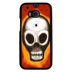 Skull Tattoo Berpola Pola Phone Case untuk HTC One M8 (Multicolor)