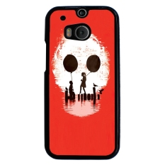 Skull Tattoo Patterned Pattern Phone Case for HTC One M8 (Red)