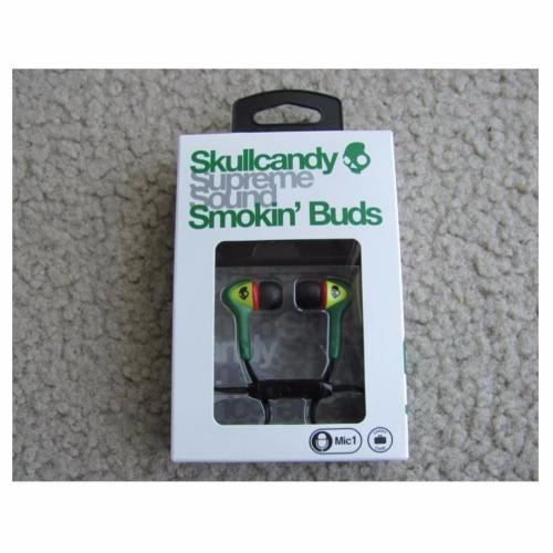 Skullcandy Smokin' Buds Earphone 3.5mm with Mic (S2SBFY-058) - Hijau