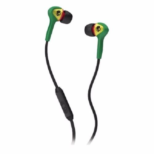 Skullcandy Smokin' Buds Earphone 3.5mm with Mic (S2SBFY-058) - Hijau/Hitam - Headphone In Ear [Jawa Timur]   DuniaAudio.com