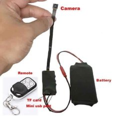 SKY HD 1080 P DIY Modul SPY Kamera Tersembunyi Video MINI DV DVRMotionw/Remote Control. Berbagai Tombol Hitam Penutup Lensa-Intl