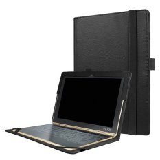 Slim-Book Stand PU Leather Case Cover untuk Lenovo YOGA Book 10.1 (Hitam)-Intl