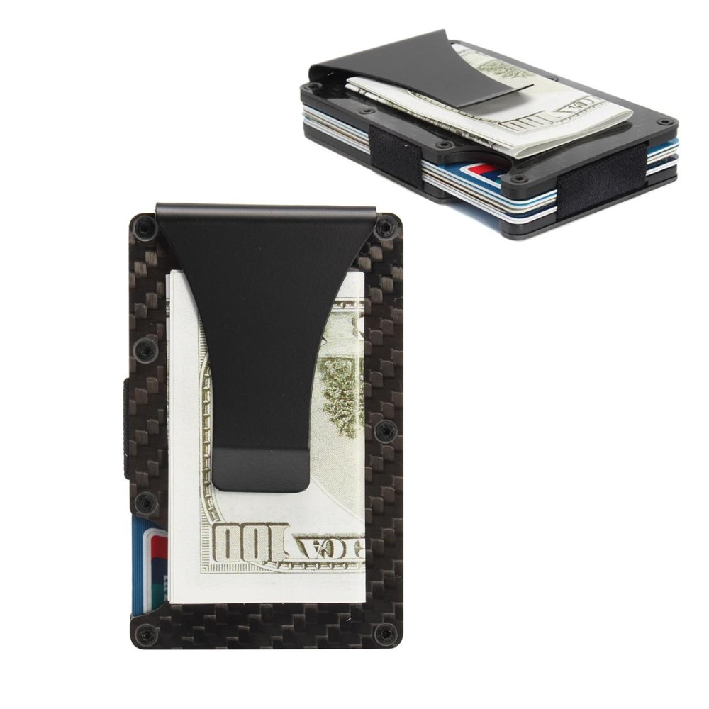 Diskon Slim Carbon Fiber Credit Card Holder Rfid Non Scan Metal Wallet Money Clip Purse Intl Not Specified Tiongkok