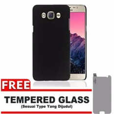 SLIM MATTE CASE BLACK DOVE FOR SAMSUNG GALAXY J5 2016 (J510) BLACK + GRATIS TEMPERED GLASS